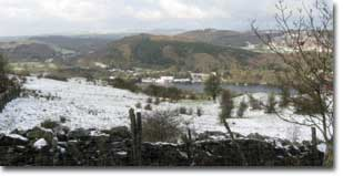 a snowy view over the Lakes
