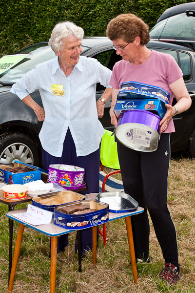 Barbara helping at Little Budworth